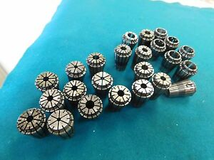 24 Piece Precision Dr20 Er20 Metric Low Profile Spring Collet Set