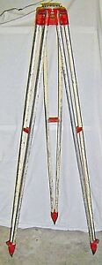 Vintage Leupold Aluminum Surveyor Tripod Surveying Equipment Level Stand Survey