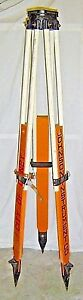 Vintage Johnson Instrument Co Surveyor Tripod Surveying Equipment Survey Stand