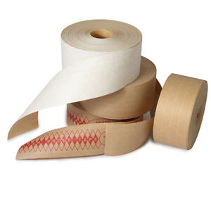 Kraft Reinforced Water Activated Tape 3 X 450 10 cs The Boxery