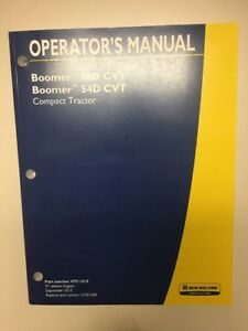 New Holland Boomer 46d 54d Cvt Compact Tractor Operator s Manual Part 47911419
