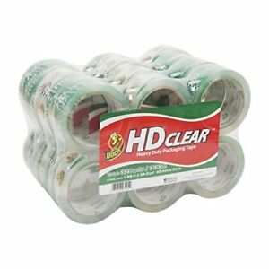 Duck Brand Hd Clear Heavy Duty Packaging Tape 1 88 Inches X 54 6 Yards 24 Pack