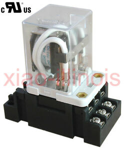 New Jqx 38f 24vdc 11 Pin 3pdt Coil Power 40a Relay With Socket R40a24vdc