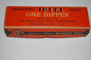 Vintage Lyman Ideal Tools - ONE DIPPER - Empty Collector Factory Box