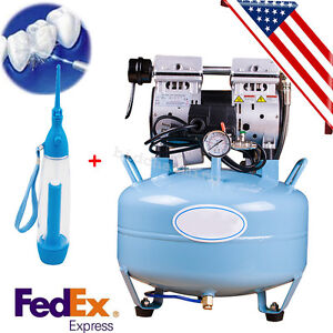 Dental Medical Noiseless Oilless Air Compressor Machine Fit Dental Chair Gift