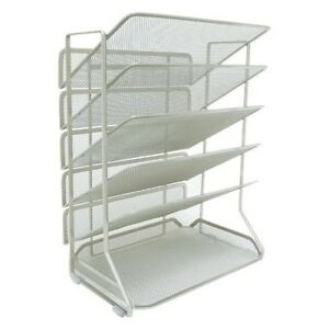 Seville 6 tray Iron Mesh Office Vertical Desktop wall Mount Organizer Letter a4