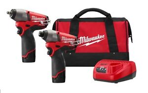 Milwaukee 2595 22 M12 Fuel 3 8 Impact Wrench 1 4 Hex Impact Driver Kit