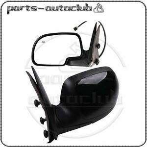 Side View Mirrors Power Heated Black Lh Rh Pair For Chevy Gmc Yukon