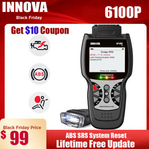 Innova 6100p Automative Abs Srs Airbag Reset Obd2 Code Reader Diagnostic Scanner