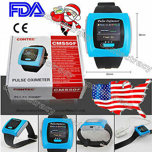 Usps Fda Ce Cms50f Digital Color Wrist Fingertip Pulse Oximeter spo2 Pr usb Sw