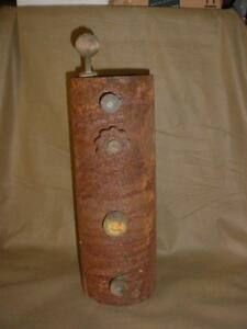 Vintage Antique Hit Miss Engine Fuel Tank Gas Pump Primer With Valve Guage