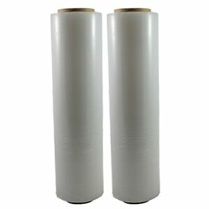 Totalpack Shrink Wrap Stretch Film Plastic 2 Pack Industrial Strength Hand 18 x