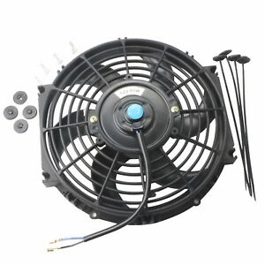 10 Inch Universal Slim Pull Push Racing Electric Radiator Engine Cooling Fan