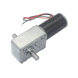 12v 24v A584031zys High Torque Metal Turbo Worm Gearbox Reduction Gear Dc Motor