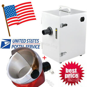 Usa dental Lab Digital Single row Dust Collector Vacuum Cleaner 370w 110v 220v