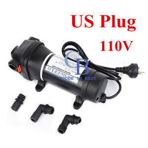 110 120v Self priming Water Diaphragm Pump 40psi Pressure Pump 4 5 Gpm For Wash