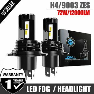 Jdm Astar G3 8000lm H4 9003 Led Headlight High Low Dual Beam Lamps White 6k Drl