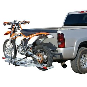 New 400 Lb Hitch Receiver Mount Motorcycle Carrier Trailer Hauler 2 Receiver