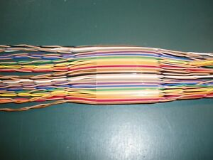 40 Conductor Twisted Pair Ribbon Cable 10ft Lengths
