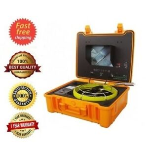 Sewer Drain Pipe 10 Color Lcd Usb 1 Inspection Camera 130ft Cable 512hz Sonde