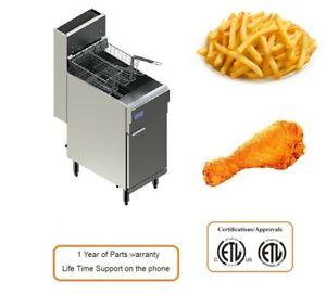 Pantin Commercial Floor Deep Fryer Gas Stainless Steel 30446 pf 65p Lp