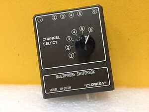 Omega Hh 20 sw 6 Input Rotary Selector Multiprobe Switchbox For Thermometers