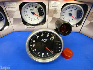 Marshall 3096 5 Tachometer 10 000 Rpm Memory Tach With Recal Shift Light