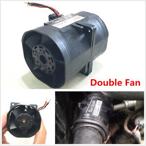 Car Auto Electric Turbine Turbo Double Fan Super Charger Boost Intake Fans 3 2a