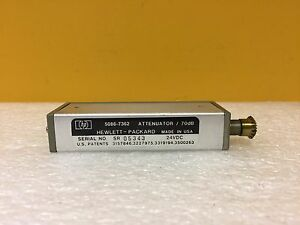 Hp Agilent 5086 7362 Dc To 18 Ghz 0 To 70 Db sma f Step Attenuator Tested