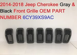 2014 2018 Jeep Cherokee Front Grille Gray Black 6cy39xs9ac