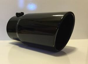 4 Inlet 6 Outlet 12 L Gloss Black Diesel Exhaust Tip Ford Powerstroke