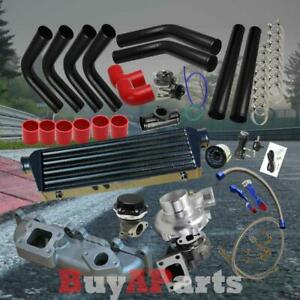 Black Intercooler Piping Red Couplers Turbo Kit For 03 05 Dodge Neon Srt 4 2 4l