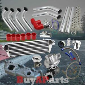 Chrome Intercooler Piping Red Couplers Turbo Kit For 03 05 Dodge Neon Srt 4 2 4l