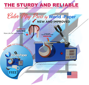 Digital Display Heat Press Transfer Sublimation Machine For Coffee Mug Cup V 4 0