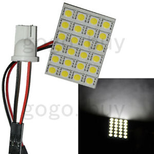 100 X 24 Smd T10 168 5050 Led Panel Car Interior Turn Signal Light Pure White N