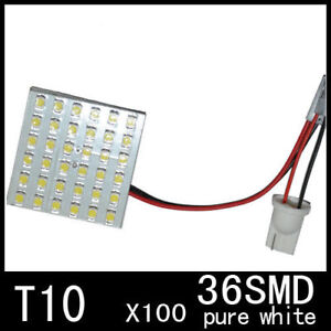 100x 168 194 T10 36 smd Led Panel Light F Licence Plate Side Interior Rear Bulbs