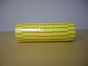 Motex Mx5500 Labels 1 Line Red yellow Sale Labels For One Line Up To 8 Character