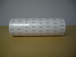 Motex Labels 1 Linewhite Use By Labels For One Line Up To 8 Character Free Ship