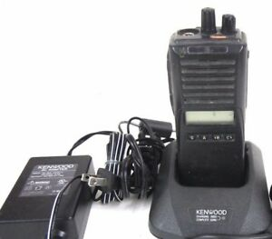 Kenwood Tk 380 Uhf Fm Two Way Radio Mic Battery Charger Ksc 24 Sabc Keys