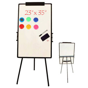 Flash 23 x35 Magnetic White Board Dry Erase Drawing W Board Easel Stand Office