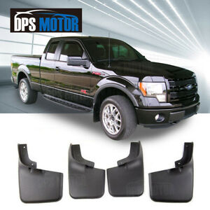 4pc Front Rear Splash Mud Guards Flaps For 04 14 Ford F150 With Wheel Lip Flare