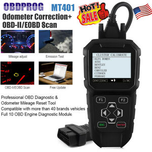 Mt401 Auto Mileage Adjustment Odometer Correction Obdii Scanner Diagnostic Tool