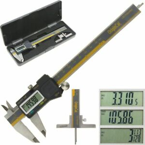 Igaging Electronic Caliper Absolute Origin 6 Digital Depth Gauge Base Fractions