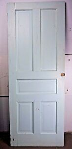 Antique Vintage 5 Panel Interior Door 77 7 8 X 30 1 8 Early 1900 S U5