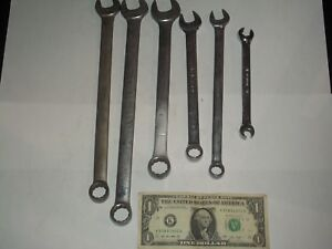 Set Of 6 Snap On Combination Wrenches 7 16 1 2 9 16 5 8 3 4 11 16 Lot A