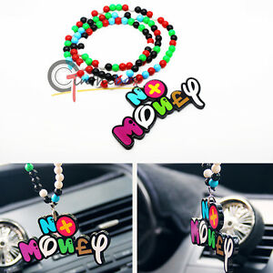 1 Funing No Money Car Rearview Mirror Hanging Charm Dangling Pendant Ornament