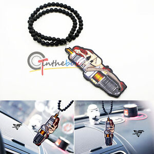 Hot Girl Spark Plugs Car Rearview Mirror Hanging Charm Dangling Pendant Ornament