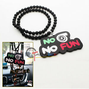 No Blow No Fun Turbo Car Rearview Mirror Hanging Charm Dangling Pendant Ornament