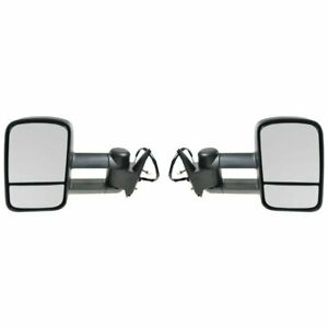 Left Right Side Mirrors For 1988 98 Chevy Gmc C K 1500 2500 3500 Truck Power Tow