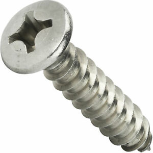 12 X 2 Self Tapping Sheet Metal Screws Oval Head Stainless Steel Qty 1000